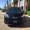 Black Toyota Sienna Conversion Van Front